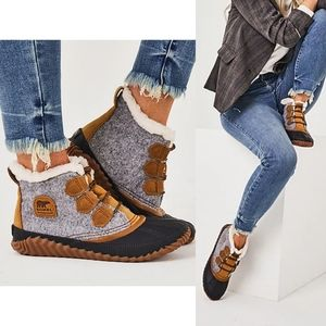 NWT Sorel out n about duck waterproof boot grey